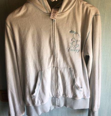 Rozpinana bluza z kapturem H&M edycja Snoopy Sleep wear (M)