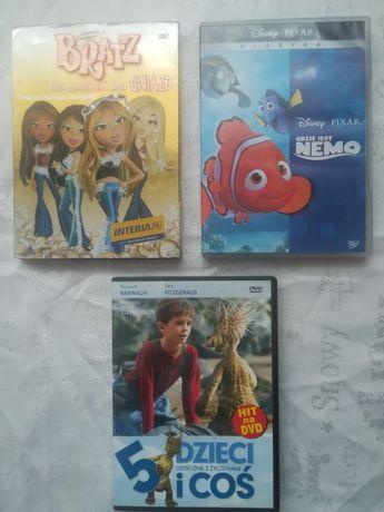 Bajki DVD Bratz, Gdzie jest Nemo, 5 dzieci i coś