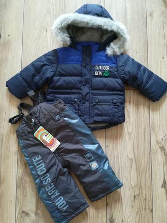 Kurtka zimowa i spodnie 80 74