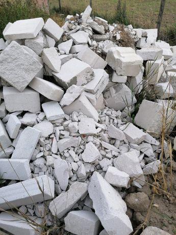 Beton komórkowy pustak gruz - resztki. ZA DARMO