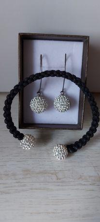 Zestaw biżuterii kolczyki i bransoletka