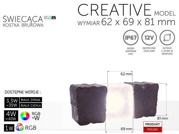 Świecąca kostka brukowa creativ kabel BZ 6,2x8,2x6,9x6 cm 10 sztuk