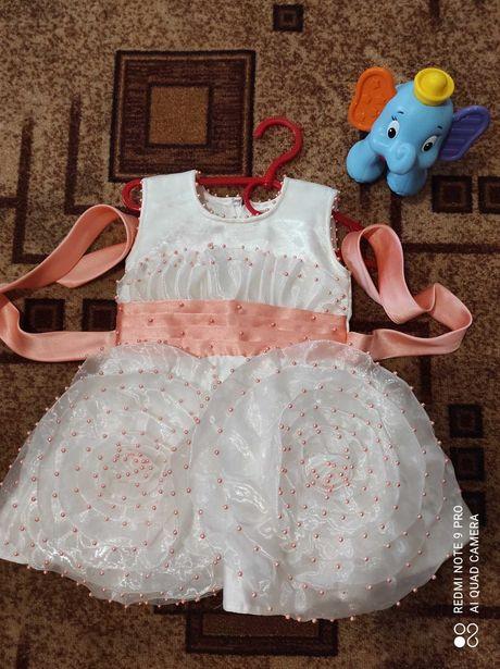 Платье на 1 годик ручная робота
