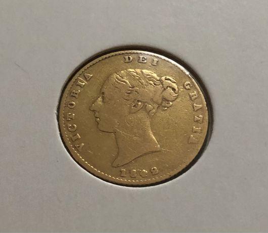 Meia libra de ouro 1842 brasão