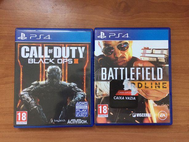 Jogos para Ps4 Battlefield Hardline/ BO3