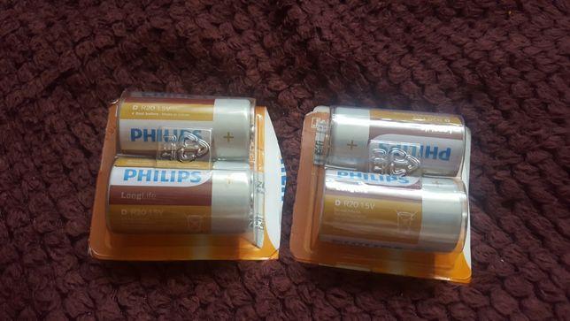 Baterie 4 sztuki. R 20 nowe. Philips