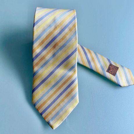 Gravata Hermès com tom de Amarelo