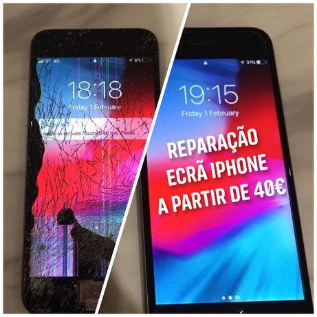 Reparação Ecrãs iPhone - todos os modelos