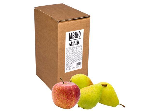 Sok tłoczony Jabłko Gruszka Aronia Wiśnia Czarna Porzeczka 5l