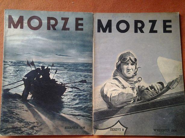 """czasopismo """"Morze"""" lata 35. i 36."""