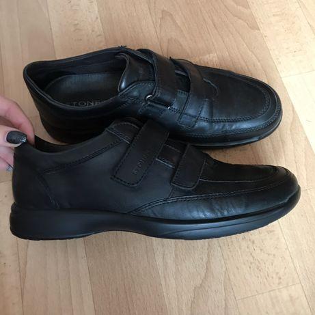 Мужские ботинки/кроссовки кожаные
