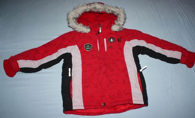 Ciepła zimowa kurtka, 4-5 lat, rozmiar 110 cm