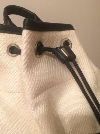 Modny pleciony plecak ze skórzanymi szelkami NOWY