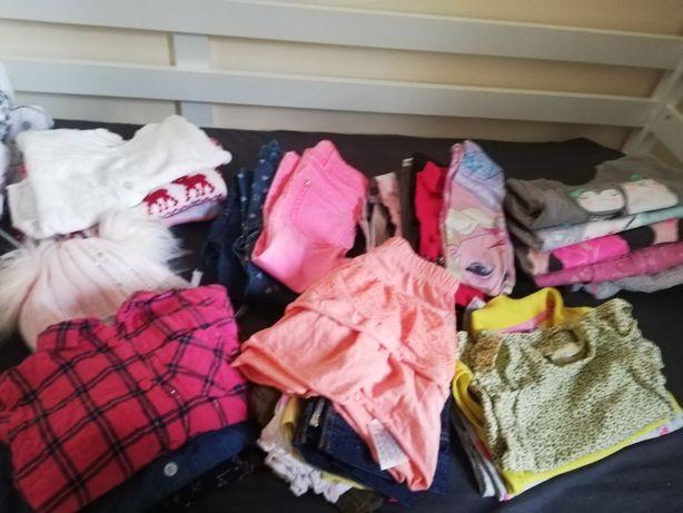 Paka ubrań zestaw rozmoar 86 92 smyk coolclub elza mickey bluzy swetry