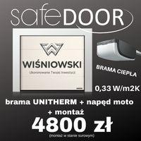 BRAMY GARAŻOWE!!! Wiśniowski UniTherm CIEPŁE Montaż Kraków Safedoor