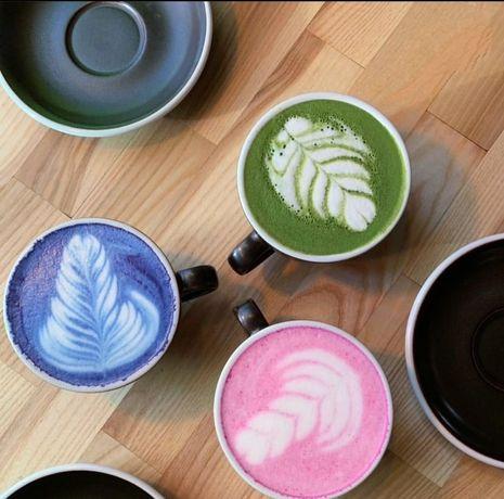 Японский чай матча зелёный, розовый, голубой. Чай гречишный, масала.