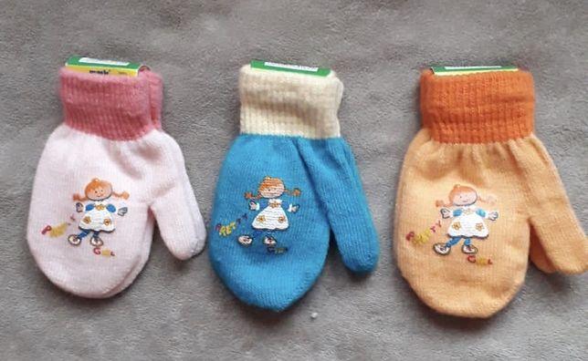 Nowe rękawiczki dziewczęce. Na 1-3 lat.