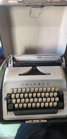 Oryginalna maszyna do pisania Triumph Gabriele 10 z walizką