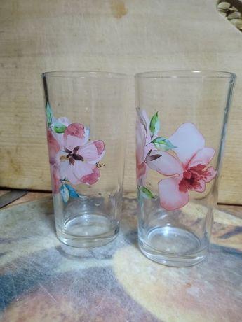 Продам стаканы с цветами