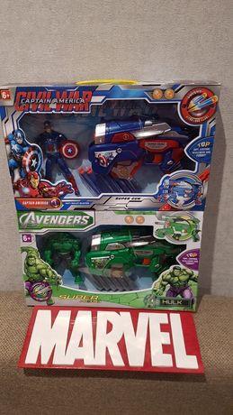 Подарочный набор: Супергерои Марвел Халк,Спайдермен,Капитан Америка.