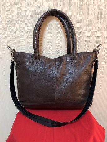 Кожаная женская сумка на плечо, Liebeskind, большая, кросс-боди.