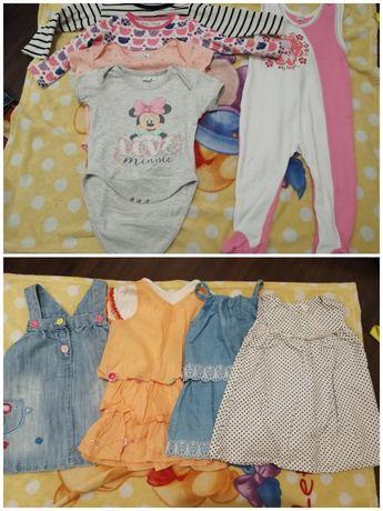 Ubranka dla dziewczynki rozmiar 80 - 86
