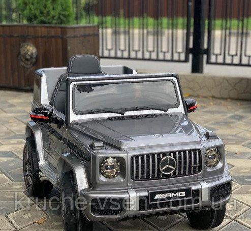 Детский электромобиль Джип Mercedes-Benz AMG, автопокраска, EVA, кожа