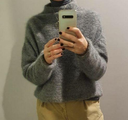 Sweterek moherek jedwabny
