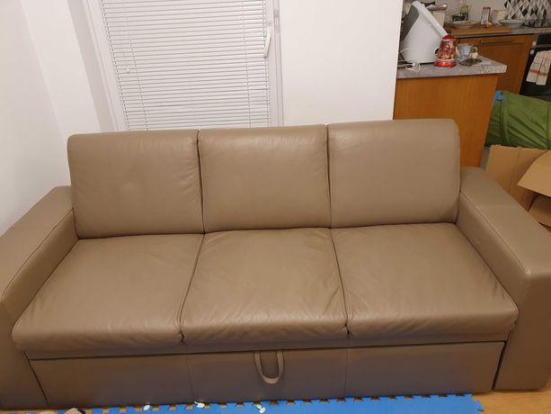 sofa skóra naturalna bdb stan z funkcja spania