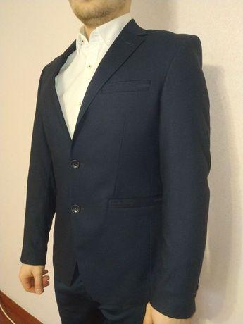 Пиджак мужской, slim-fit, тёмно-синий, S-M