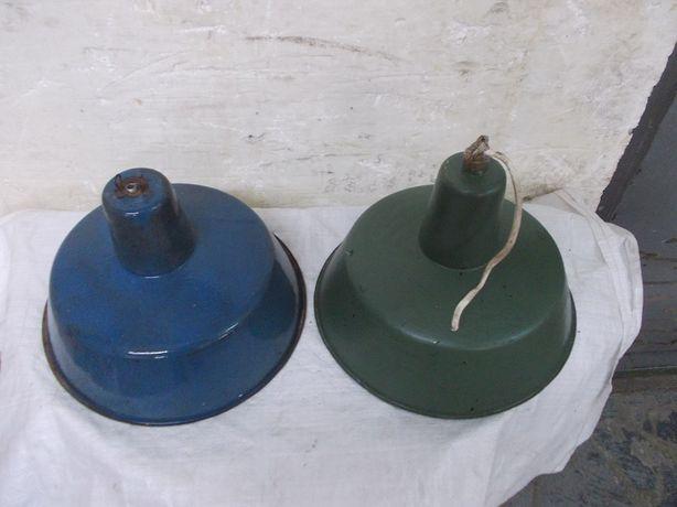 Stare emaliowana lampa wisząca fabryczna loft industrialna