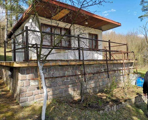 Domek z 4 ar działką nad jeziorem k Olsztynka