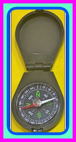 Turystyczny Kieszonkowy Kompas (Busola) z Klapka które Zamyka.
