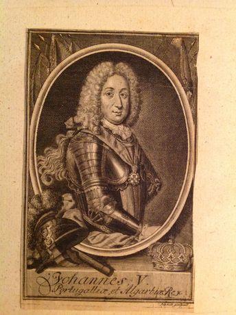 Rara gravura do rei D. João V