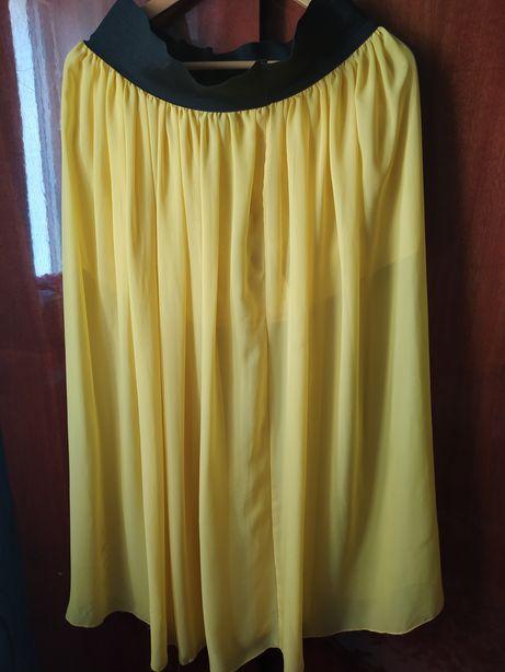 Шифоновая юбка, летняя юбка, юбка в пол