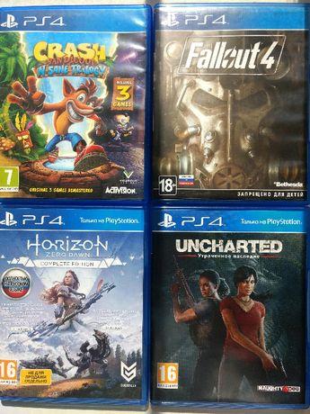 PS4 игры Crash 1,2,3 Fallout4 Horizon Uncharted Утраченное наследие