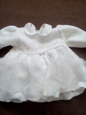 Ubranko komplet do chrztu dziewczynka roz.68-74