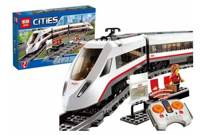 """Конструктор Lepin """"Cities"""" 02010 (K 8012) Скоростной поезд 628 дет"""