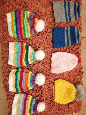 Bambosze wełniane i czapki czapeczki dzieci i dorośli wysyłka - nowe