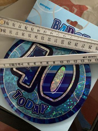 Badge 40 anos de festa de aniversario
