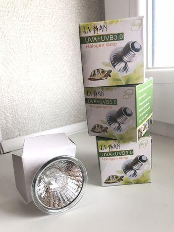 Лампочка обогрева и ультрафиолета для черепахи  , и др рептилий 2в1