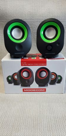 Głośniki czarno zielone
