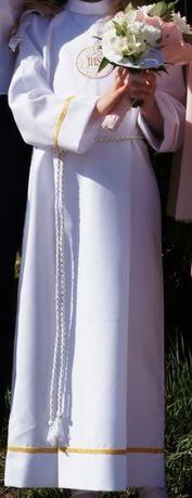 Alba do komuni komunijna sukienka dla dziewczynki + torebka r 140