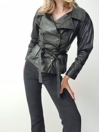 Vintage kurtka skórzana z prawdziwej skory