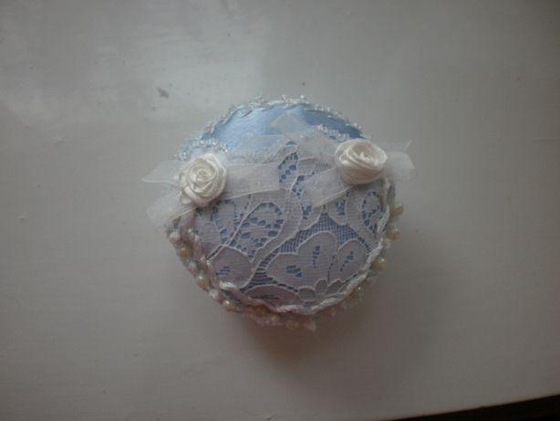 Игольница с вышивкой лентами хэнд мэйд