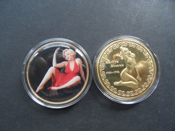 moneta pozłacana pamiątkowa Marilyn Monroe