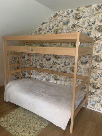 Двухъярусная кровать(Чердак), надстррйка над диваном 190х90, бук