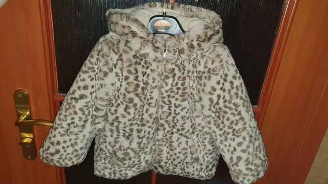 Двусторонняя демисезонная куртка-шубка ZARA (Испания) 2-3 года 92-98см