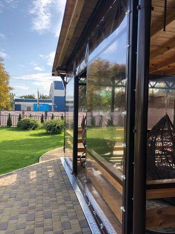 Мягкие окна ПВХ, рулонные окна для кафе, мягкие окна для беседки