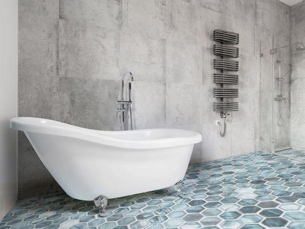 Banheira oval autónoma em acrílico branco CAYMAN - Beliani